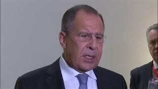 Пресс-подход С.Лаврова по итогам переговоров с Р.Тиллерсоном