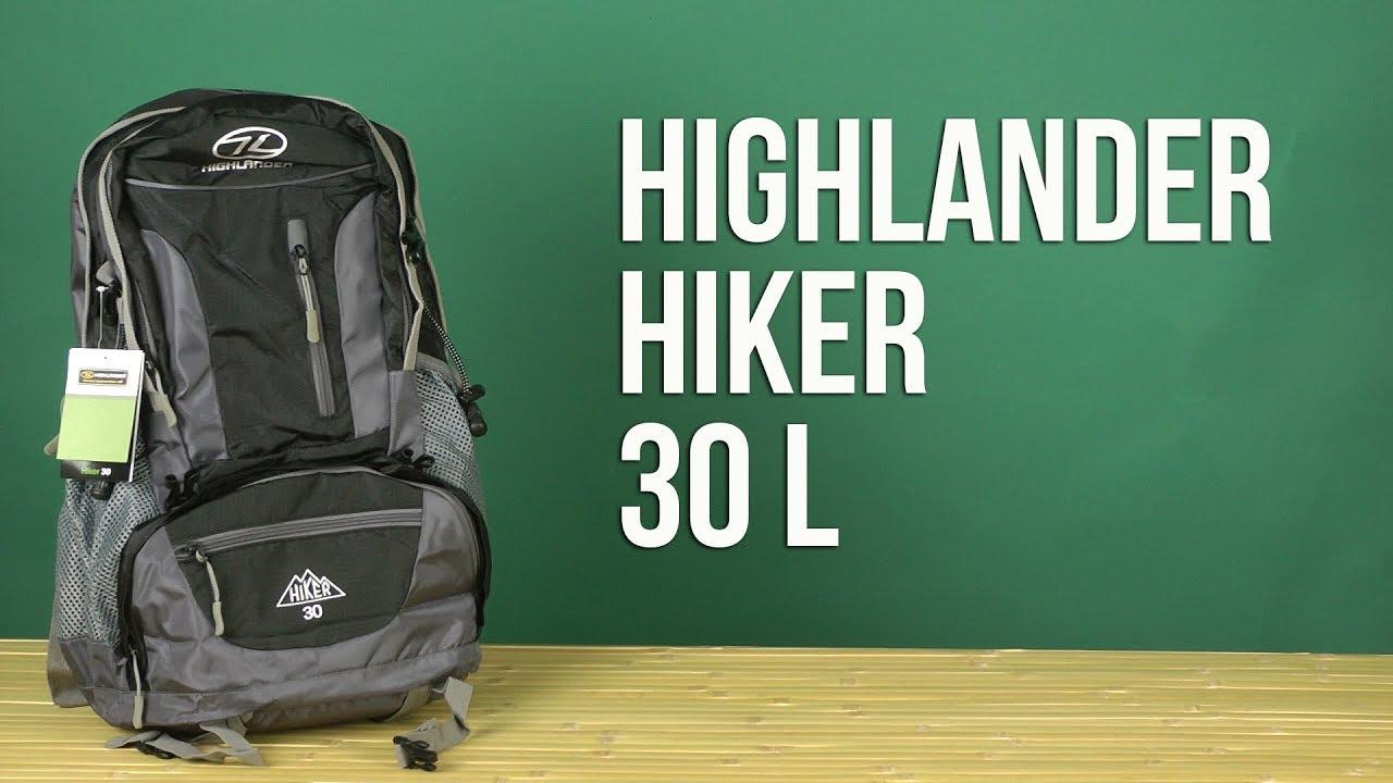90ea9cef841 Распаковка Highlander Hiker 30 Black 924258 - YouTube
