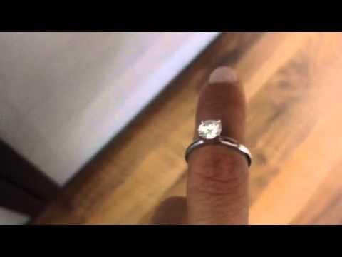 DIAMOND RING SOLITAIRE 1 CARAT ROUND BRILLIANT WHITE EYE CLEAN 14K