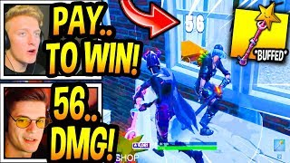 """Streamers *ANGRY* After """"Star Wand"""" Pickaxe *BUFFED* BIG TIME! (PAY TO WIN) Fortnite Moments"""