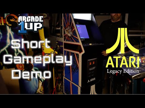A Geocab Quickie:  Arcade1Up - Atari Legacy Short Demo - Gameplay and Button Mapping from The Geocab
