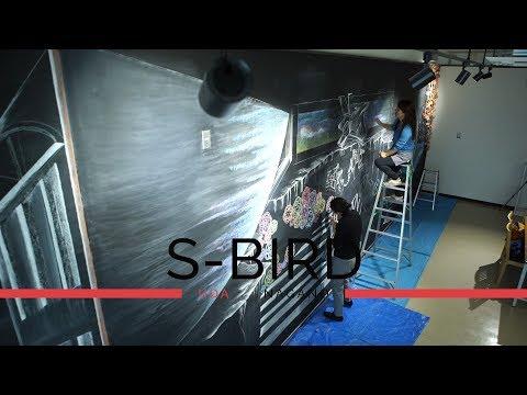 S-BIRD 長野県で一番大きい黒板でARTしよう!〜チョークアート タイムラプス編〜 長野tube