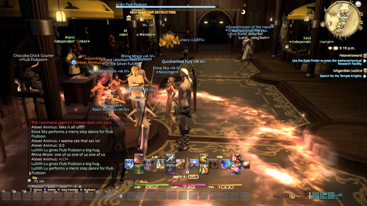Final Fantasy XIV Naked Dance Party - YouTube