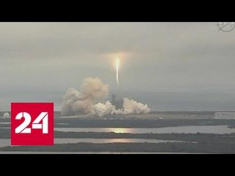Ракета Falcon с грузовиком Dragon устремилась к МКС
