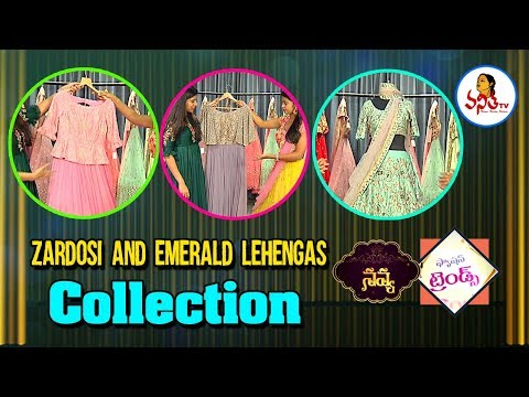 Dussehra Special Zardosi and Emerald Lehengas Collection | Navya | Fashion Trends | Vanitha TV