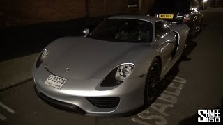 Porsche 918 Spyder from Dubai Arrives in London