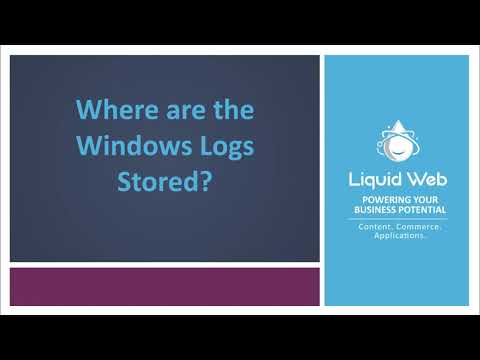 Where are the Windows logs Stored?