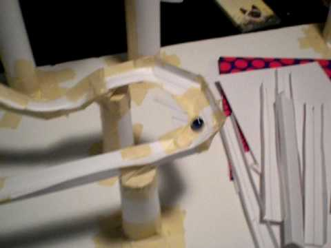 how to build a roller coaster out of paper