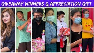 Giveaway winners & Appreciation gift to @Soma Laishram  & @TK Memories   #38