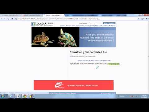 Convert Youtube videos to mp3's using zamzar