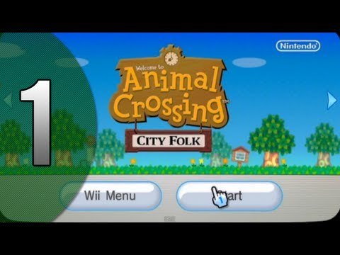 """Let's Play: Animal Crossing-City Folk (part 1) """"Setting Out"""""""