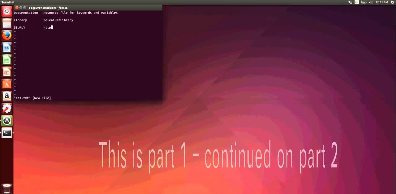 robotframework and selenium on ubuntu part1