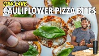 Part 2 of 2: Low-Carb Cauliflower Pizza Bites  /  Bocaditos de Pizza de Coliflor