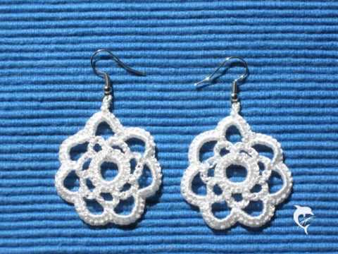 Organic and hand-made/ crocheted earrings, Ohrringe gehäkelt - de.dawanda.com/shop/BeautifulHands/