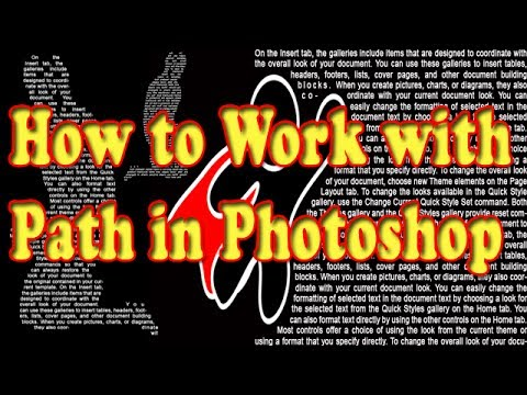 Photoshop basic online Tutorial How to make work path in photoshop  PSD-2