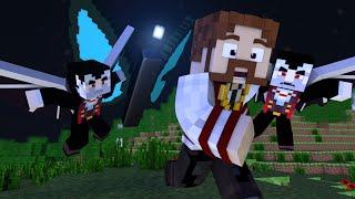 Minecraft: O FILME #2 - FUGINDO DOS VAMPIROS!! MOTHRA?!?! | Crazy Craft 3.0
