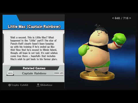 Super Smash Bros. (Wii U) - All 716 Trophies