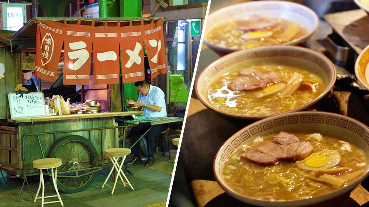 おもしろ店主のいる屋台ラーメン|Old Style Ramen Stall in Tokyo|Japanese Street Food|雪虎|拉面・라면|