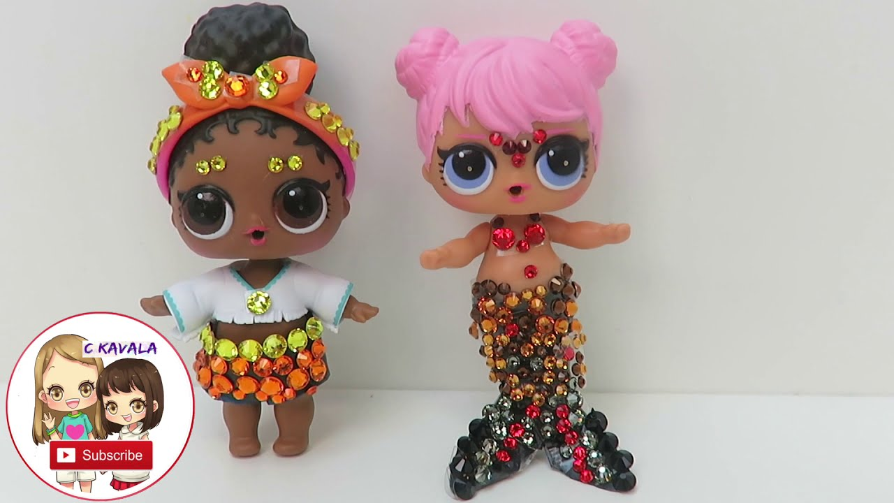 Diy Lol Surprise Doll Swarovski Crystals Custom Glitter Glam