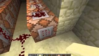 Drawbridge in Minecraft Snapshot 13w39b (now with 99% more command blocks)