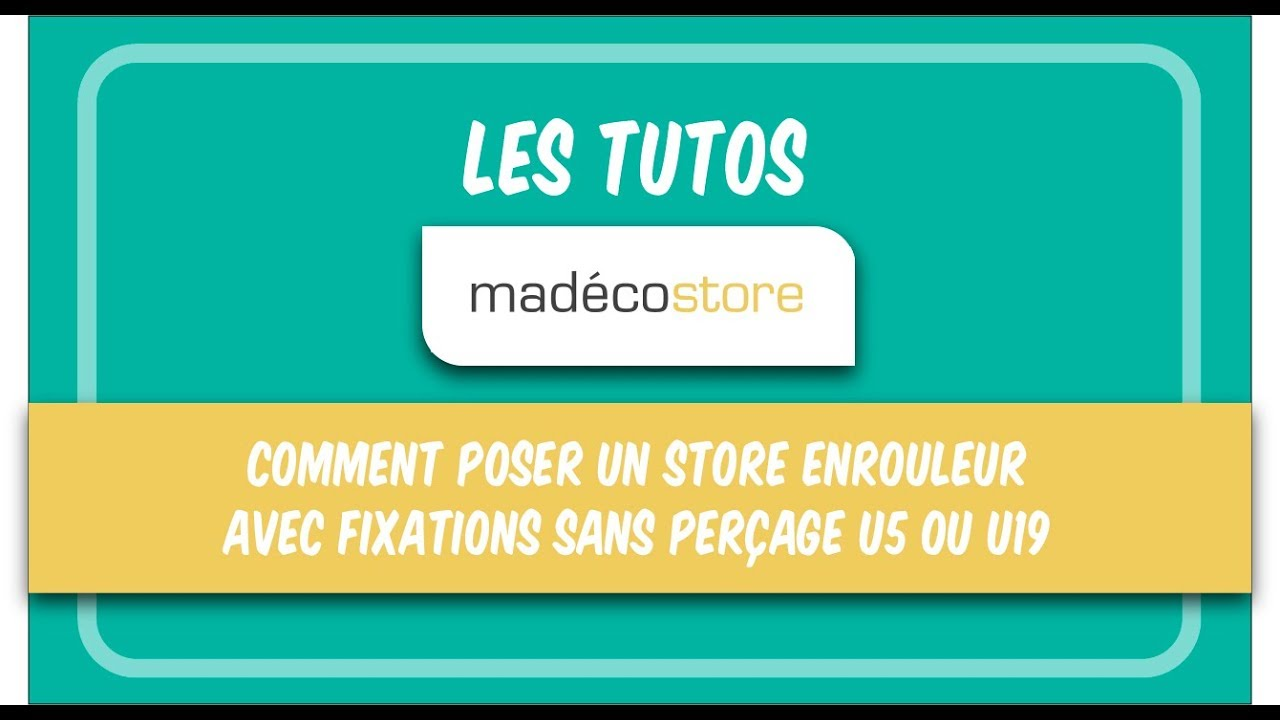 comment poser un store enrouleur avec une fixation sans per age acessoires u5 et u19 youtube. Black Bedroom Furniture Sets. Home Design Ideas