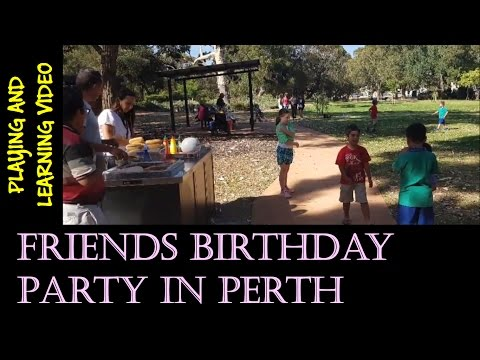 First Friends Birthday's Party in Perth Australia
