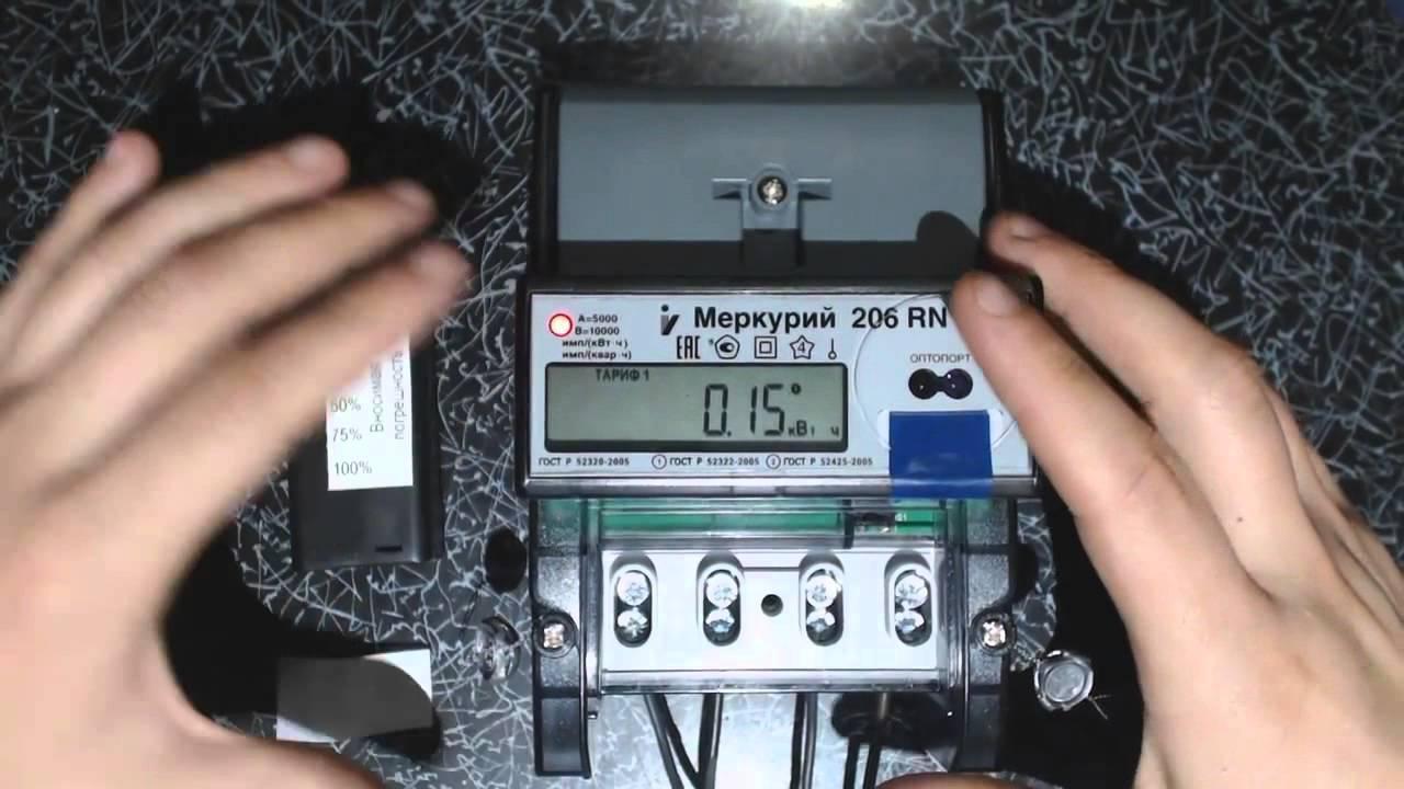 однофазный счетчик меркурий. схема включения