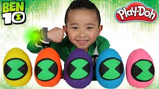 Ben 10 Toys Play-Doh Surprise Eggs Opening Fun With Ckn Toys