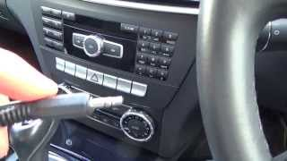 Repeat youtube video How To connect an Apple iPod, iPhone to your Aux jack on a MERCEDES BENZ C CLASS