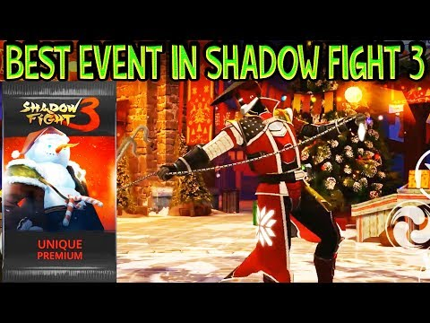 Shadow Fight 3. Winning Grand Winter Frenzy Event with Crown Defender. My First Premium Unique Pack!