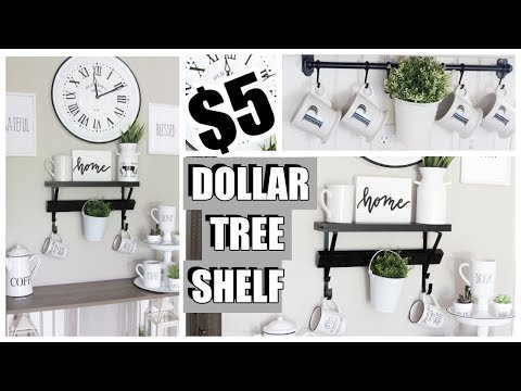 $5 DOLLAR TREE CRAFTS - FARMHOUSE SHELVES