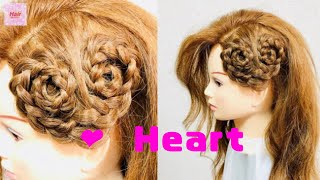 Side Heart Braid Hairstyle Tutorial (Valentine's Day Hairstyle)