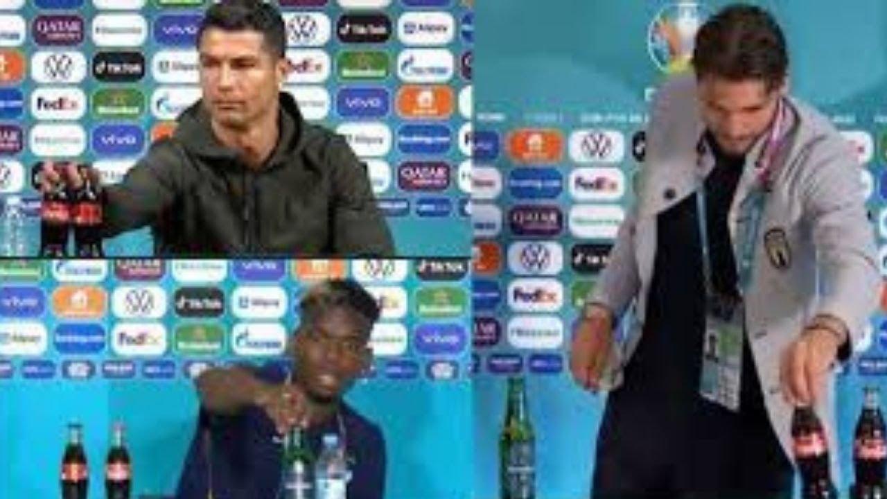 Euro 2020 teams asked to stop removing sponsor bottles after Ronaldo starts trend