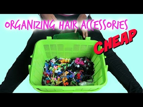 Natural Kids Organizing Hair Accessories Busy With D Youtube
