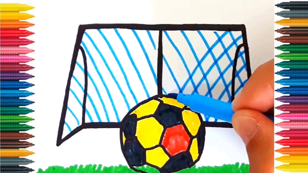 How to Draw a SOCCER BALL for Kids SOCCER BALL Drawing for Kids ...