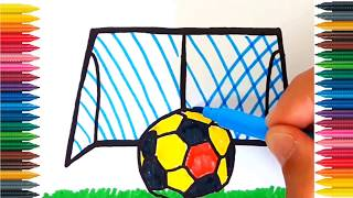 How to Draw a SOCCER BALL for Kids SOCCER BALL Drawing for Kids Soccer Ball Coloring Pages for Kids