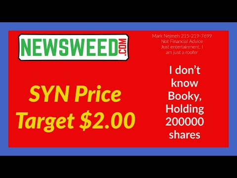 $SYN #SYN Synthetic Biologics Price Target for me $2 00