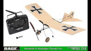 Rage R/C - Vintage Stick - Micro Ready-to-Fly Electric Airplane