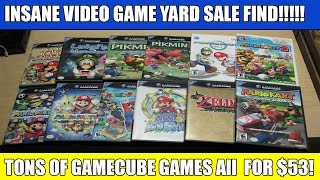 INSANE YARD SALE VIDEO GAME FIND! TONS OF GAMECUBE GAMES!(I ended up getting 36 Games for $53. Completely and utterly insane. Especially since a majority of the games were actually the higher end ones and not ..., 2016-04-24T12:56:24.000Z)