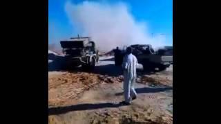 همج مصراته يقصفون المطار بالصواريخ