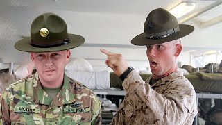 Marine Corps Drill Instructors VS Army Drill Sgts  (Marine Reacts)