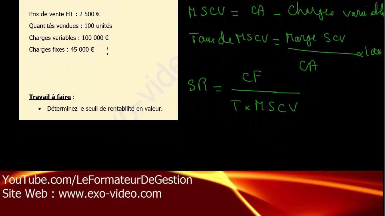 Bts Muc Gestion Le Seuil De Rentabilite Comment Calculer Le