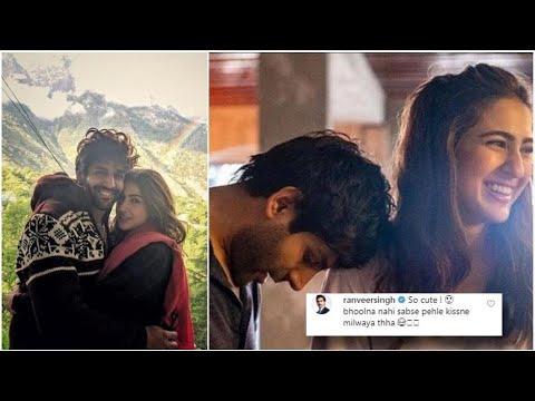 Ranveer Singh Teases Sara Ali Khan, Kartik Aaryan  as they share ROMANTIC VIDEOS from Love Aaj Kal 2 Mp3