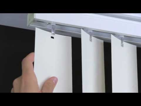 How to Remove and Install Vertical Blind Vanes