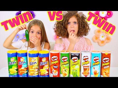 REAL FOOD VS. PRINGLES CHALLENGE!  HILARIOUS!!
