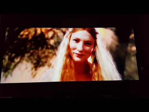 The Lord of the Rings 4k Super Trailer shown via JVC DILA X7900 projector &  130