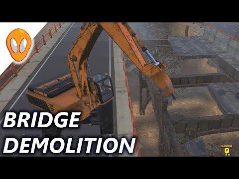 Demolish and Build 2017 |  Excavator Bridge Demolition Ep5