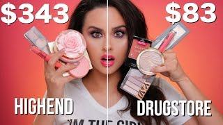 Full Face Drugstore Vs. Highend Spring Makeup Tutorial