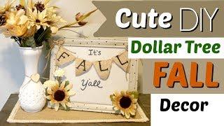 DIY Fall Farmhouse Decor | Dollar Tree Fall Crafts 2018 | Krafts by Katelyn