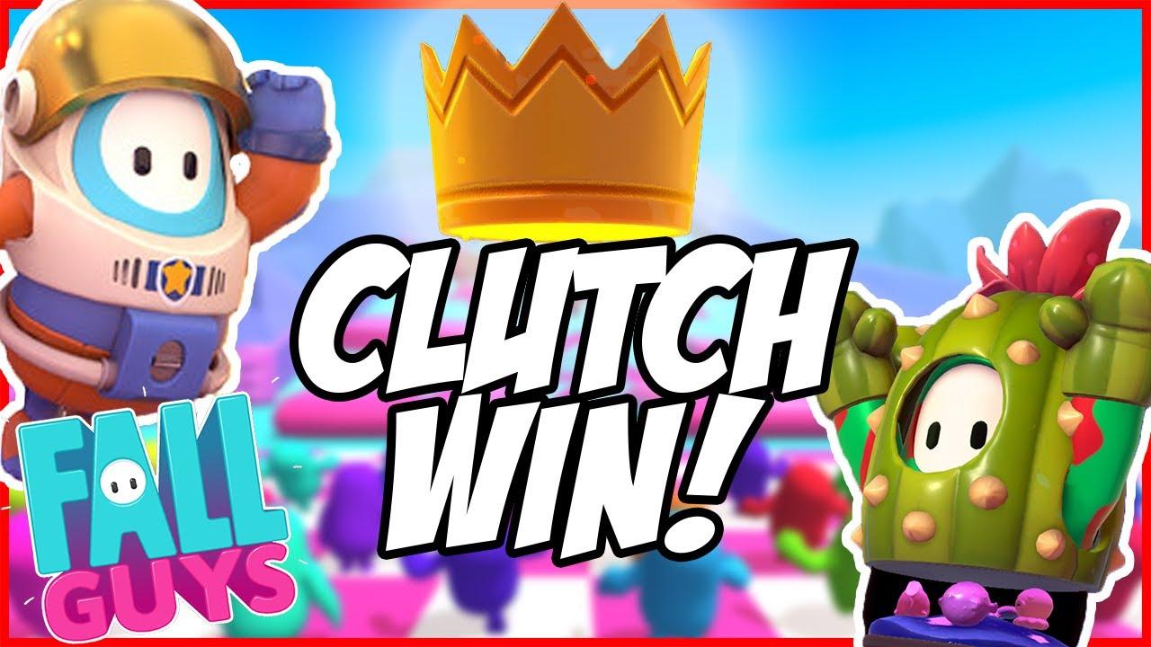 EPIC! Fall Guys Clutch Win! (First Win)